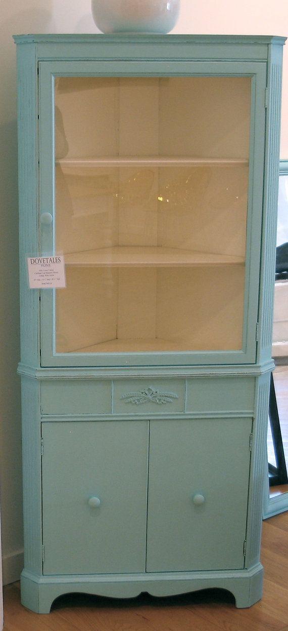 Cottage Sweet Vintage Corner Cabinet by dovetaleshome on Etsy, $395.00 - Cottage Sweet Vintage Corner Cabinet By Dovetaleshome On Etsy