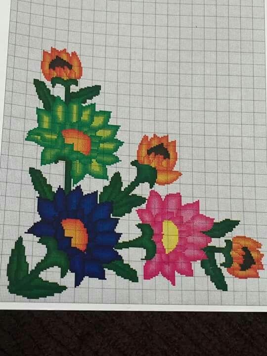 Pin de Creare Punto Croce -Creazioni en fiori | Pinterest | Punto de ...