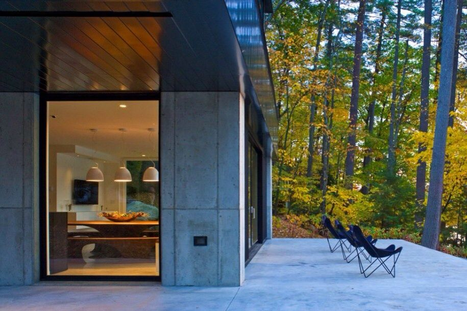 Concrete Terrace In The Woods
