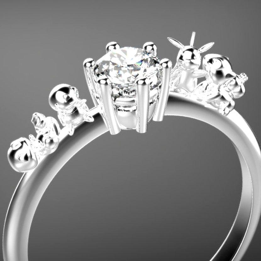 Pokemon Engagement Ring Engagement Rings Engagement Pokemon Ring