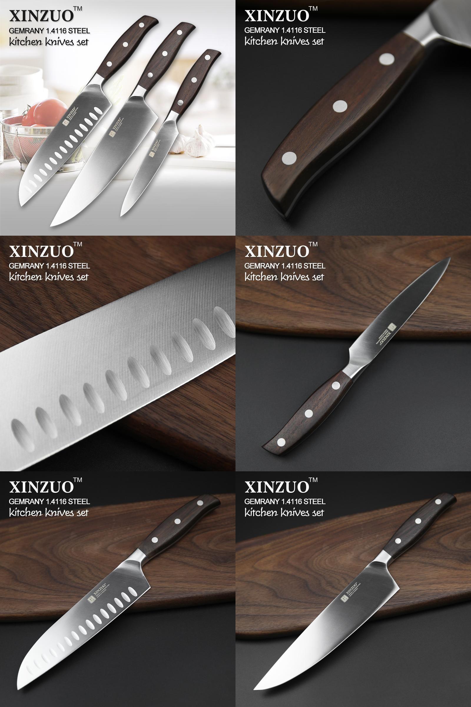 visit to buy xinzuo kitchen tools 3 pcs kitchen knife set utility