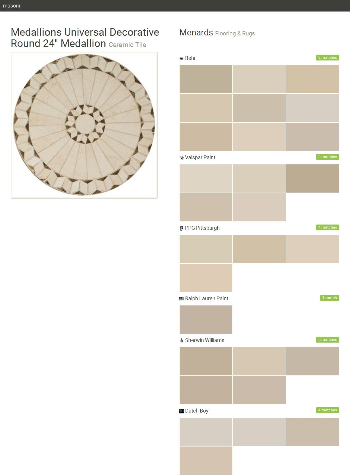 Medallions universal decorative round 24 medallion ceramic tile medallions universal decorative round 24 medallion ceramic tile flooring rugs menards dailygadgetfo Image collections