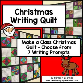 Christmas Writing + Quilt Display