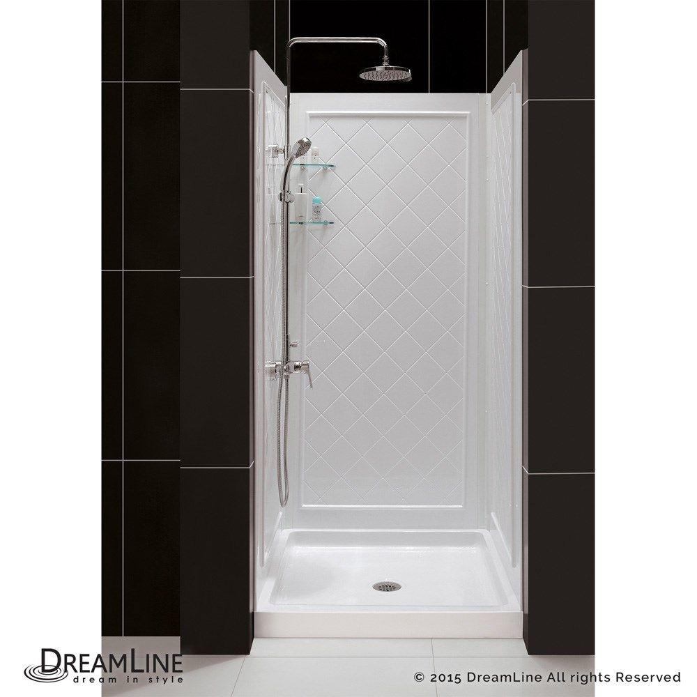 Dreamline Slimline 42 In W X 32 In D Single Threshold Shower
