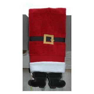 Towel Leg Designs Santa Boots Towel Towel Embroidery Designs Christmas Hand Towels Santa Boots