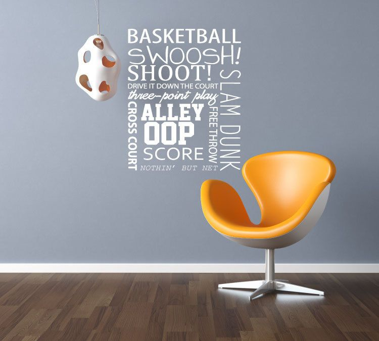 Vinyl Wall Decal   Basketball Quote   Vinyl Wall Art Quote   Sport Decals.  $69.00