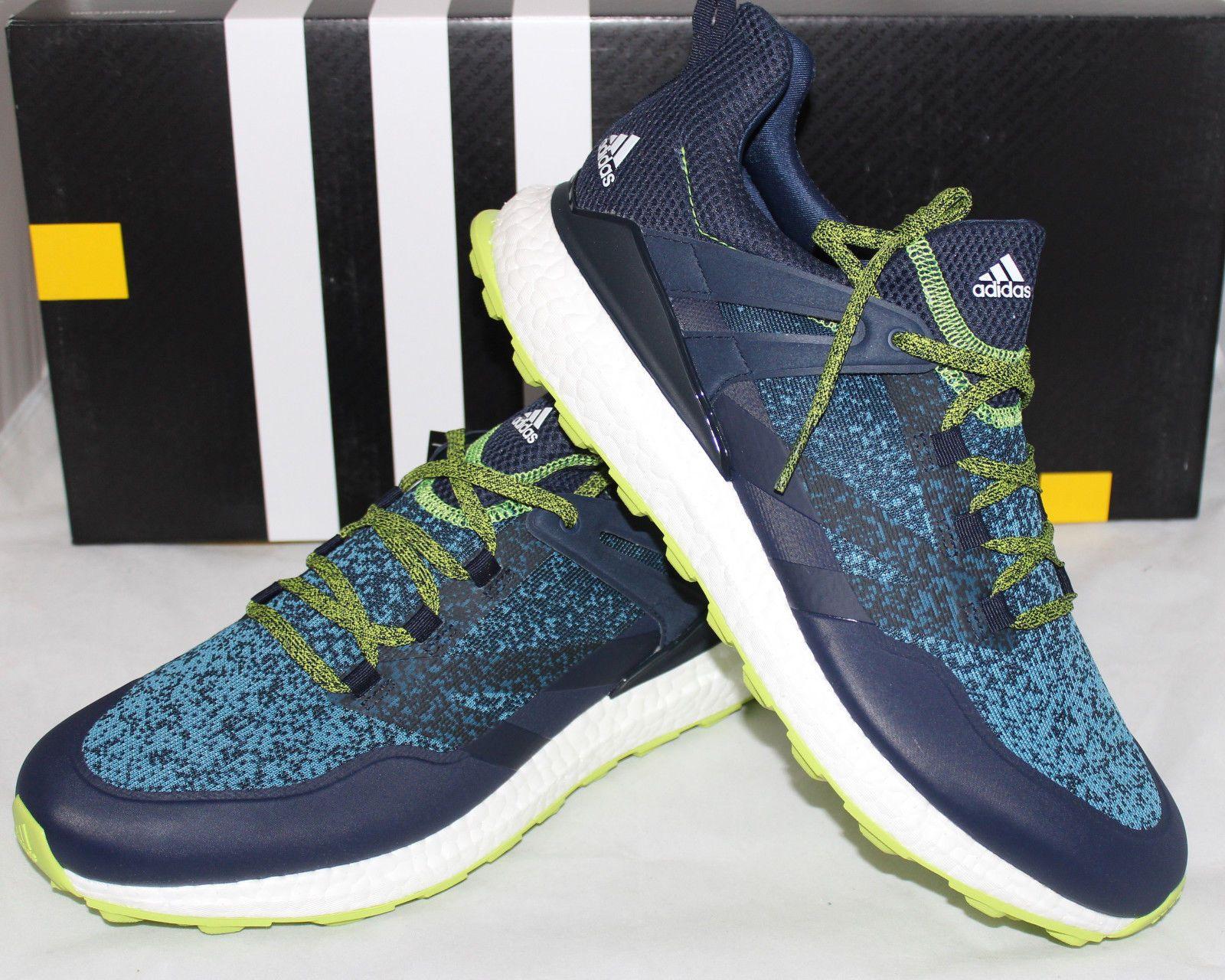 Adidas crossknit Boost hombre  zapatos de golf azul marino Collegiate solar