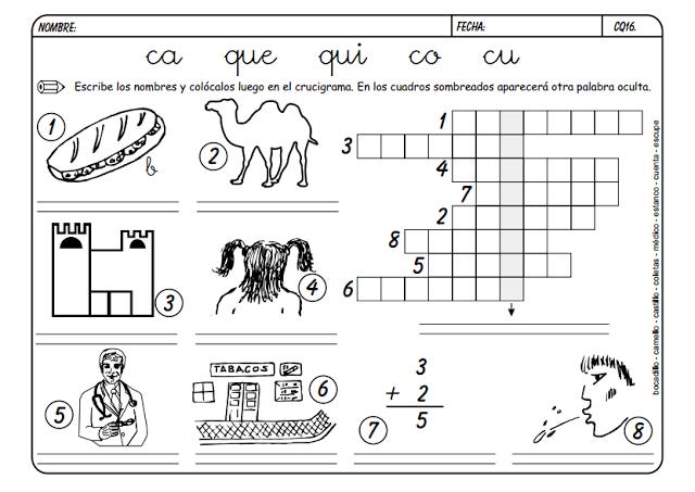 Maestra Leyendo Para Colorear: Maestra De Primaria: Fichas Para Trabajar CA, QUE, QUI, CO