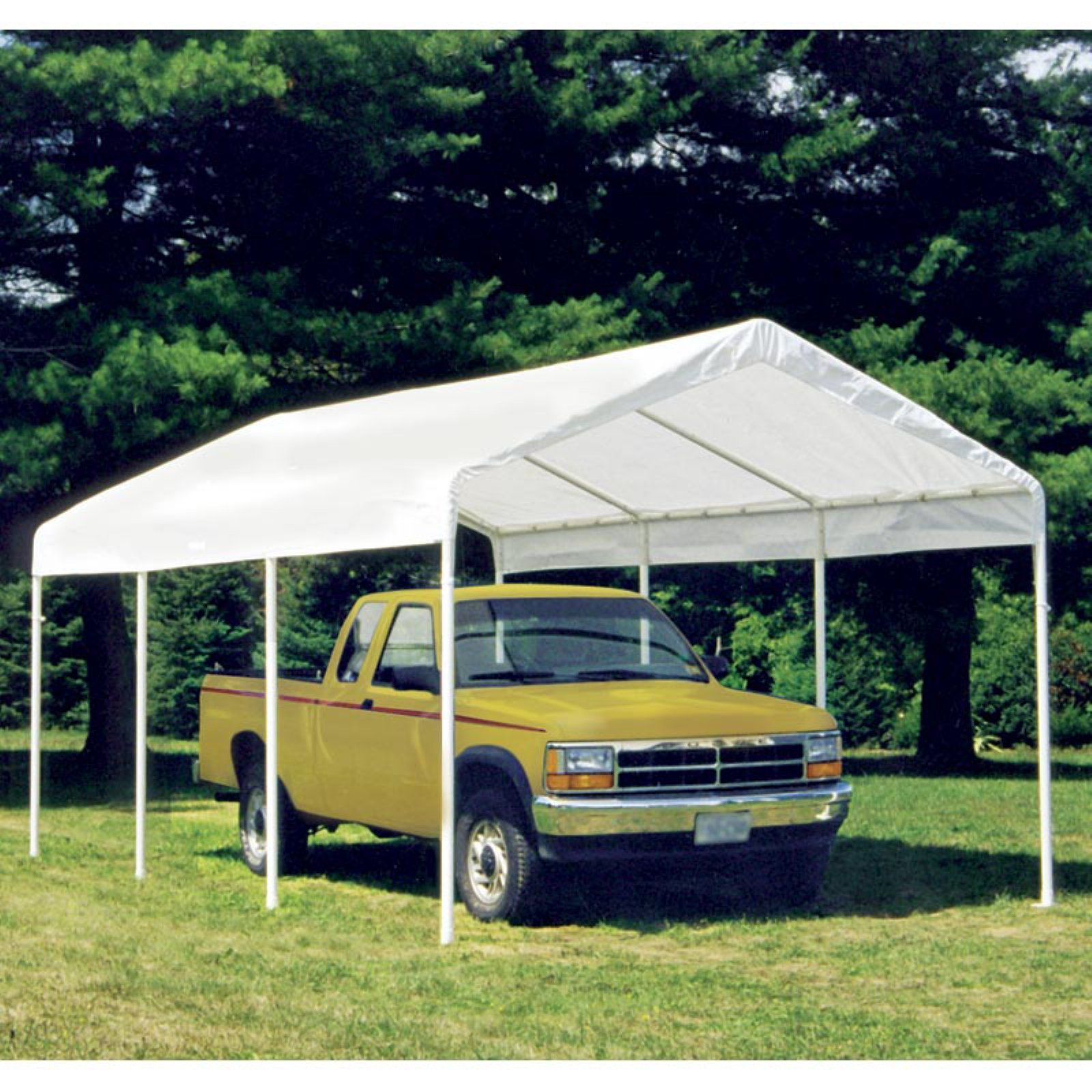 ShelterLogic Canopy Cover with Enclosure Kit 10 x 20 ft