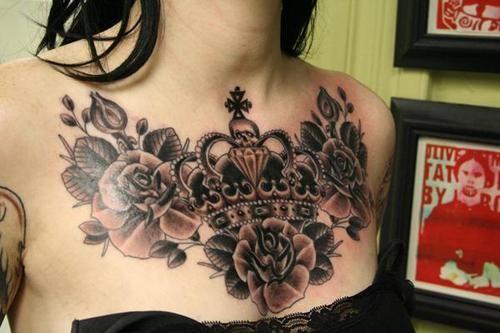 Fuimpostingit Chest Tattoos For Women Tattoos For Women Chest Piece Tattoos