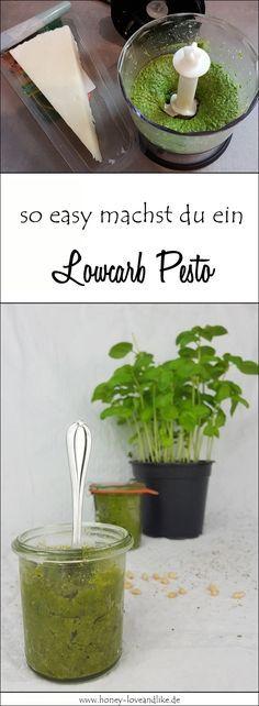 So macht man ein Lowcarb Pesto mit Rucola, Parmesan & Pinienkernen
