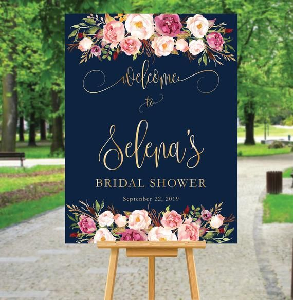 Bridal Welcome Signs Shower
