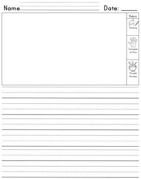 Kindergarten Journal With Space For Self Assessment  Writers