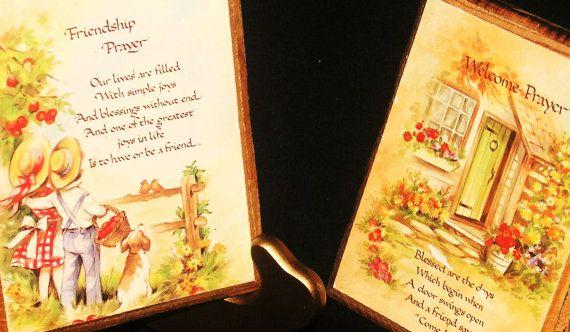 vintage 'decogauge' Friendship' plaques set by charlottesWONDERweb, $5.00