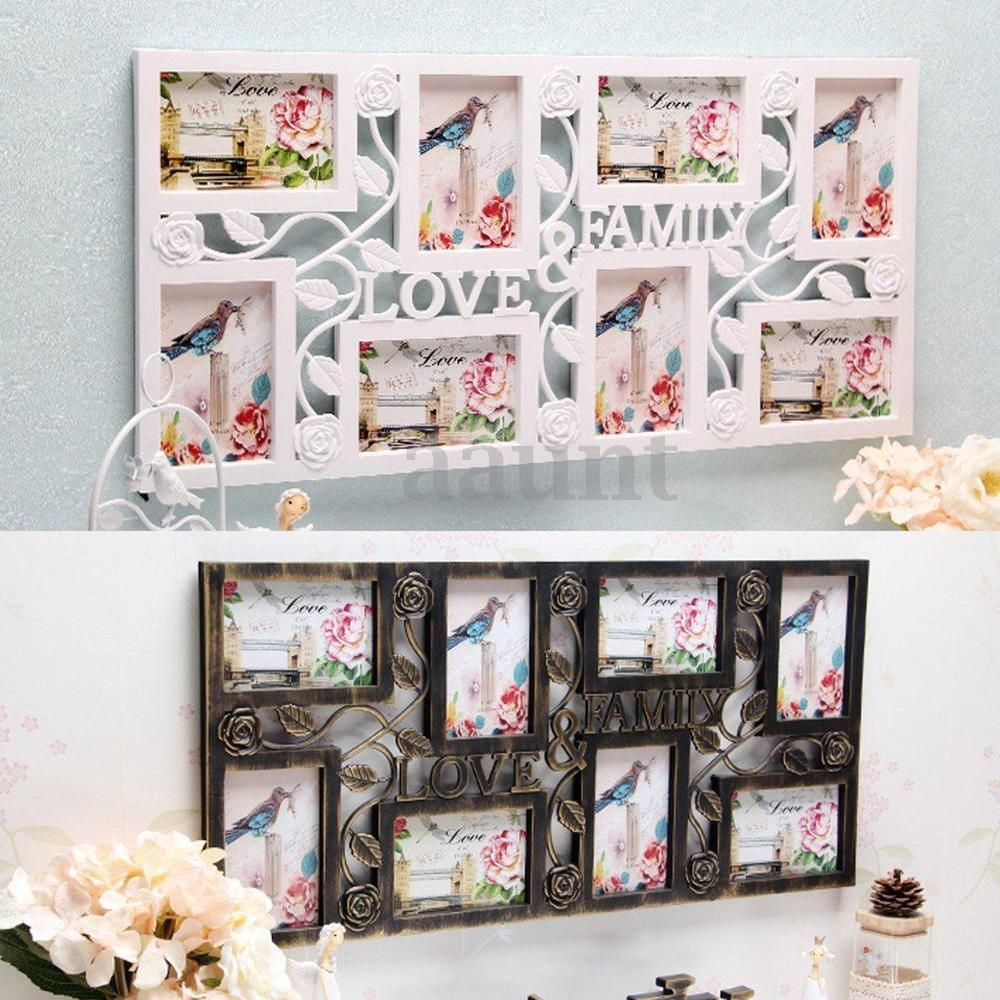 Details about Plastic Collage Hanging Photo Frame Love Family ...