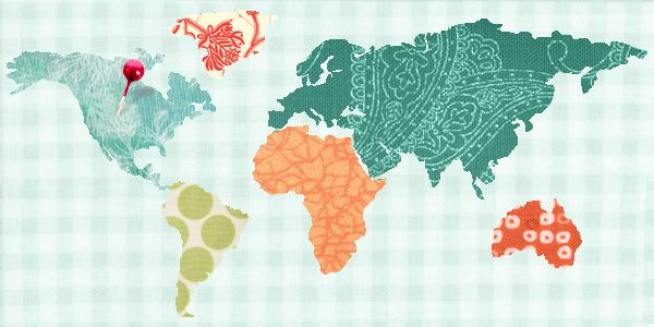 Quilts for Travelers: Map Quilts & More | Map quilt, Machine ... : map quilt pattern - Adamdwight.com