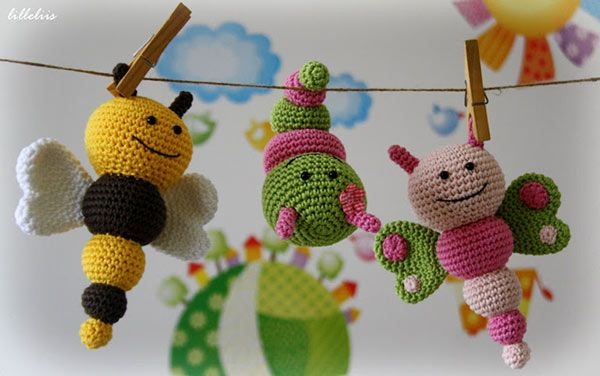 Amigurumi Caterpillar : Bug rattles amigurumi pattern by lilleliis amigurumi crochet and