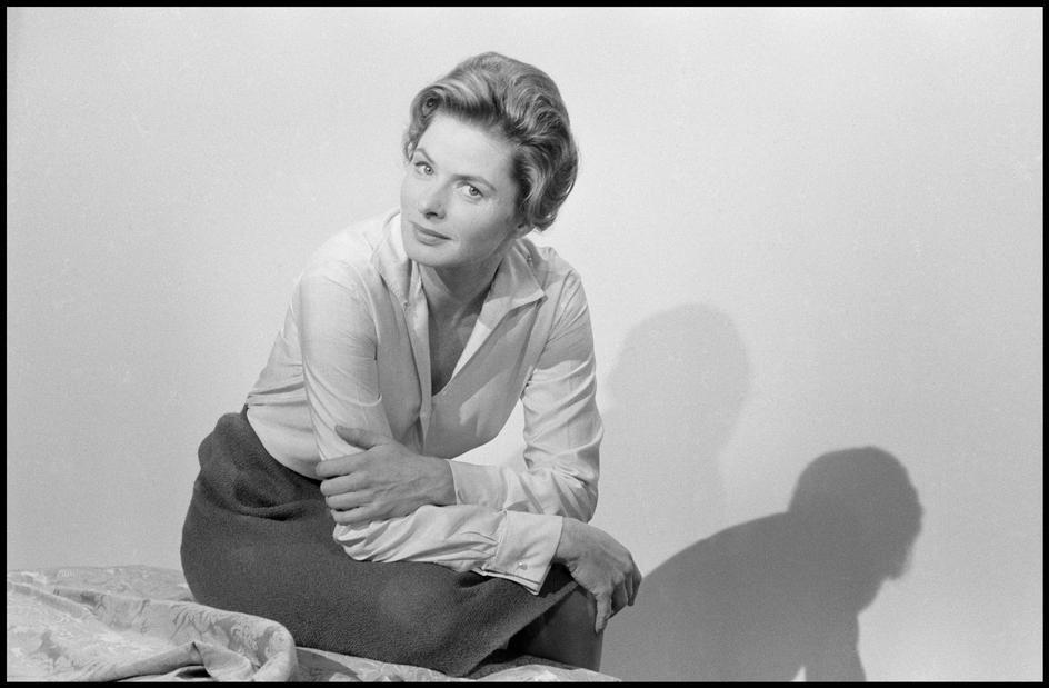 Portrait of Ingrid Bergman by Inge Morath, 1960