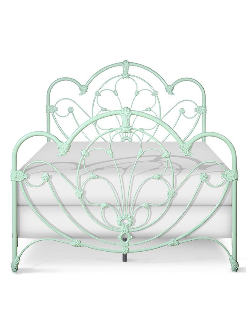 Delphine Iron Bed Cottage Home Iron Bed Mint Green Bedroom
