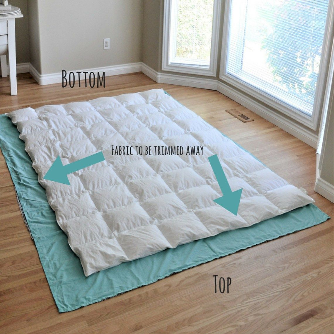 Diy Duvet Cover From Flat Sheets Tutorial Sewing