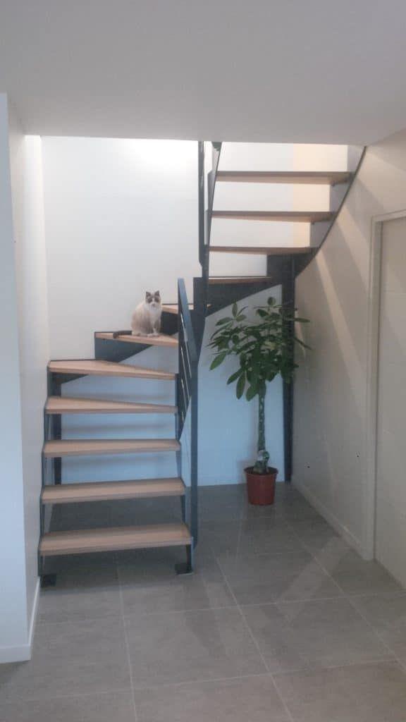 Escalier Double Quart Tournant Fabriques Sur Mesure Et Pas Cher Idees Escalier Escalier Design Escalier