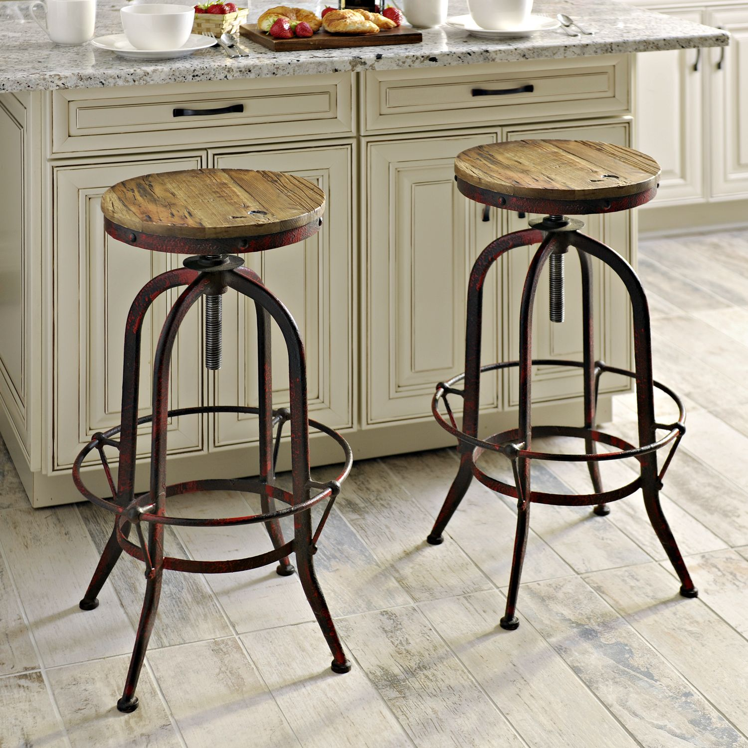 Perfect Bring A Touch Of Modern Decor Into Your Home With These Industrial Red Bar  Stools. Design Inspirations