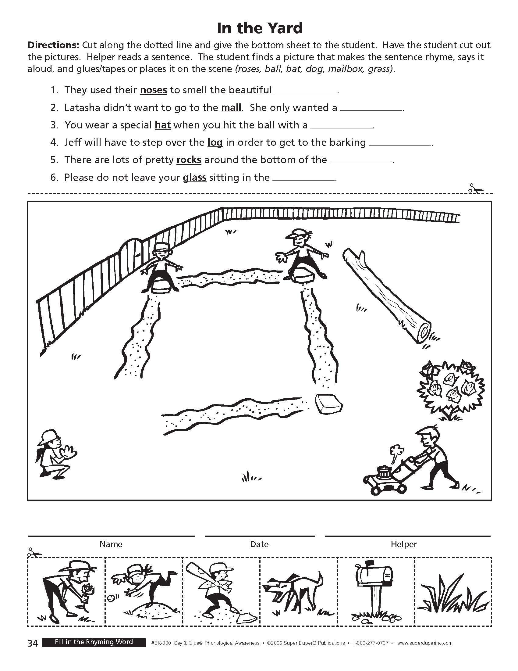 This Fun Worksheet Is From Super Duper S Say Amp Glue