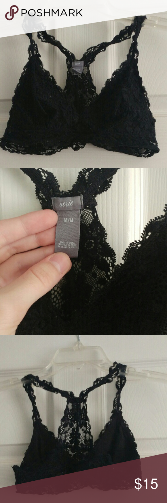Aerie Lace Bralette This bralette is super comfy!  This is a reposh because I don't like the fit of this.  Make an offer?? aerie Intimates & Sleepwear Bras