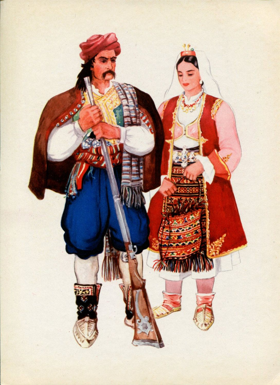 Herzogovina Bosnian National Costume Print By