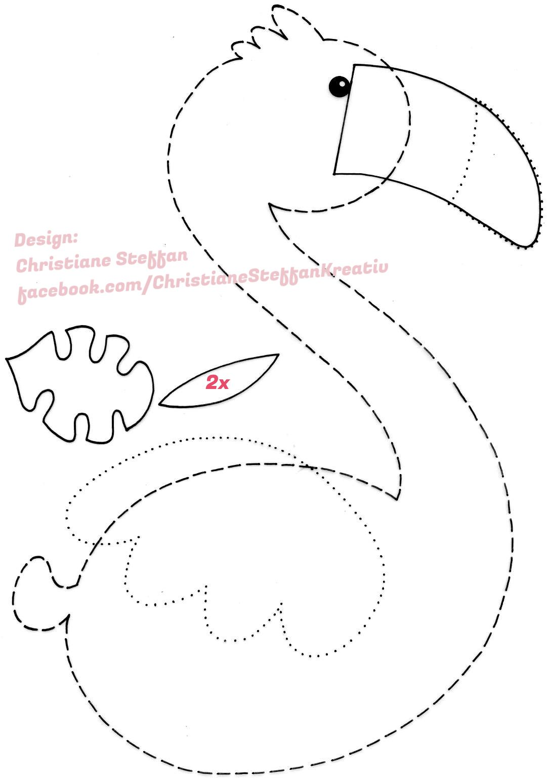 Flamingo Template You Will Wuv What S In 9