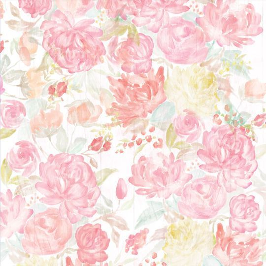 Watercolor Floral Scrapbook Paper By Recollections Products