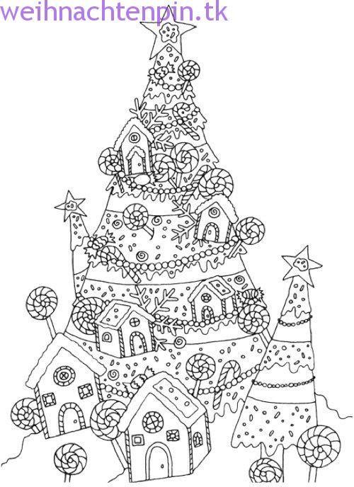 kreatives weihnachtsbaum-malbuch: ein samm (mit bildern