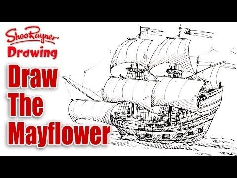 How to draw the Mayflower - Spoken tutorial - YouTube | drawing ...