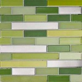 Green Gl Mosaic Tiles Kitchen Backsplash Want Tile Like This In The Hall Bathroom