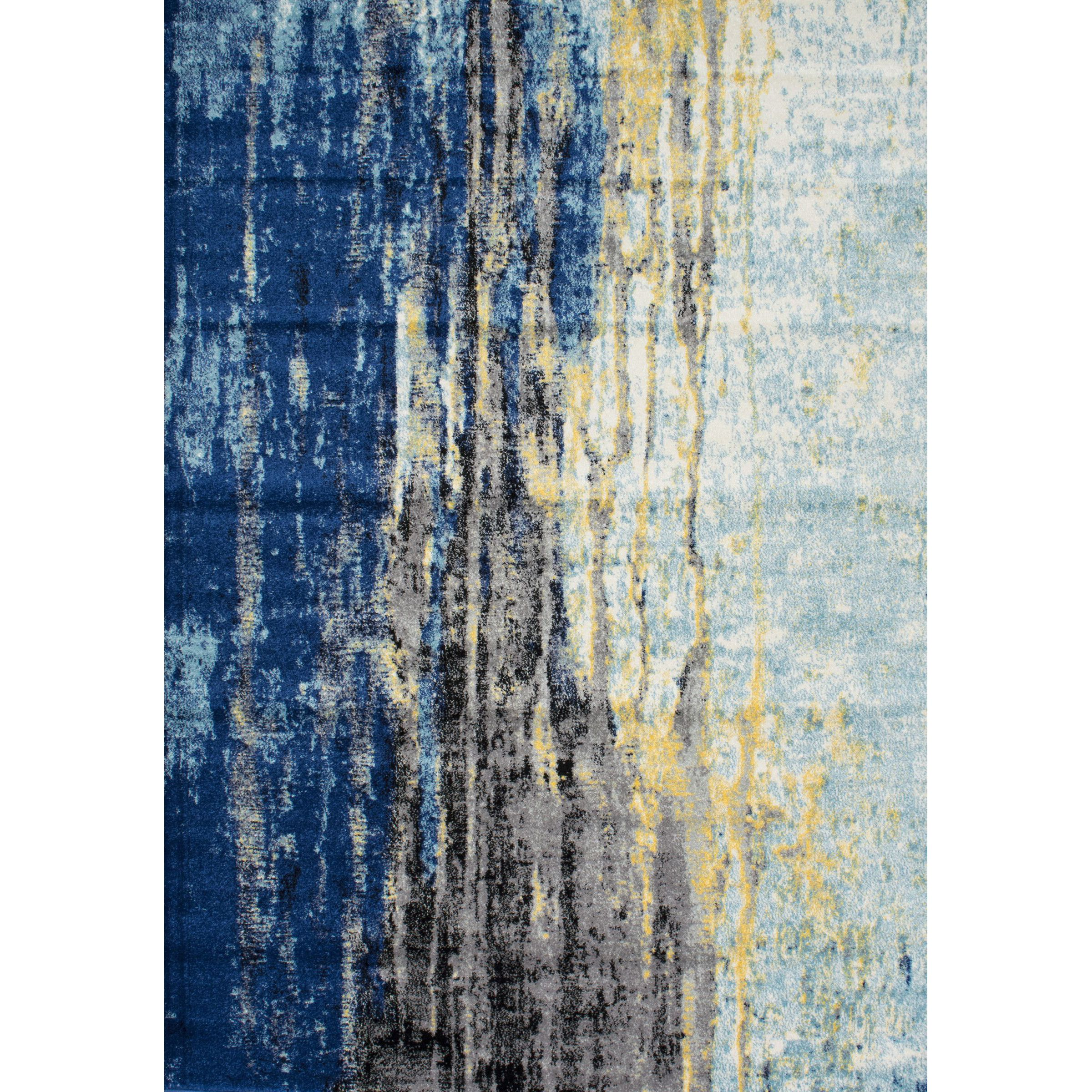 Stevensville Bright Blue Light Blue Area Rug Rugs Rugs