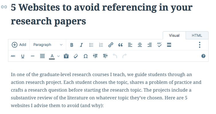 5 Websites To Avoid Referencing In Your Research Papers Research Paper Academic Research Action Research