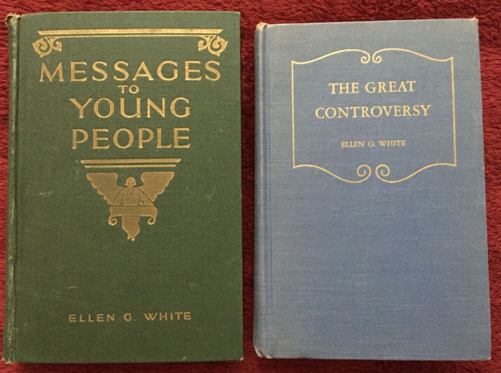 Vintage Ellen G White Books: Messages to Young People ~ The