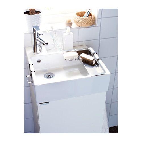 Till gästbadrum LILLåNGEN Tvättställsskåp med 1 dörr vit IKEA BATHROOM Pinterest Badrum