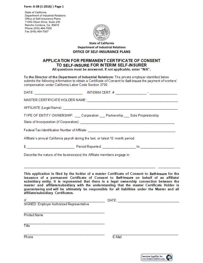 This Is A California Form That Can Be Used For Osip Within Workers