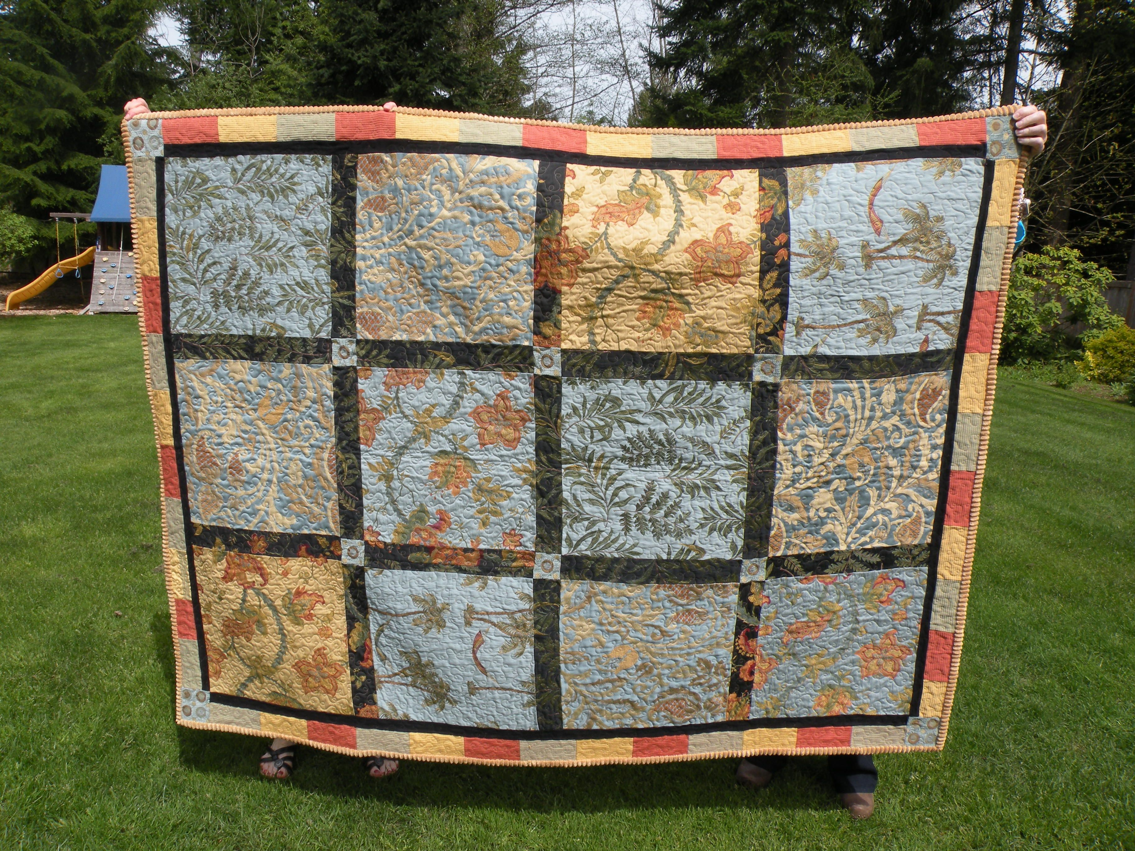 Made From Upholstery Samples Quilts Fabric Decor