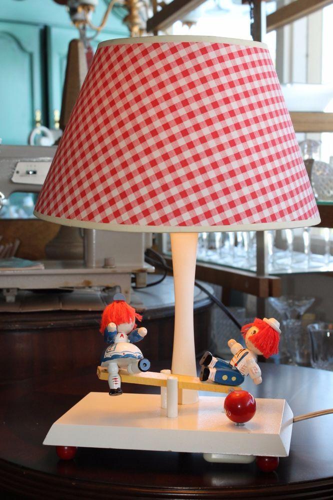 Bobbs merrill 1979 raggedy ann andy musical lamp wred plaid shade bobbs merrill 1979 raggedy ann andy musical lamp wred plaid shade works aloadofball Gallery