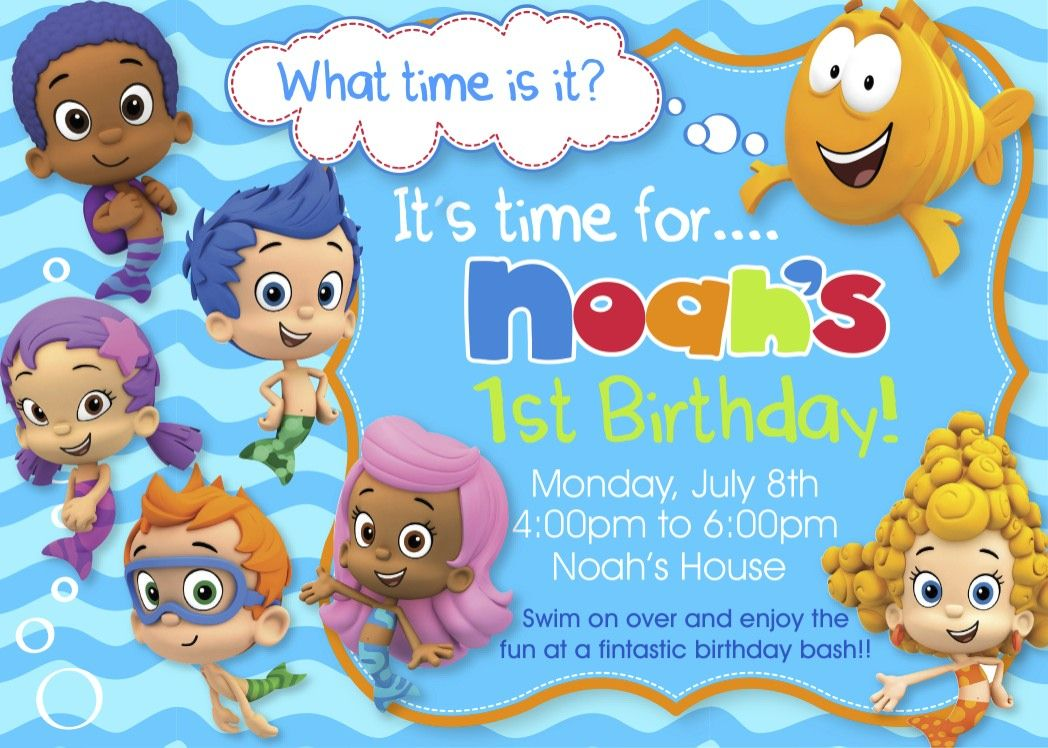 Nice Create Easy Bubble Guppies Birthday Invitations Templates ...