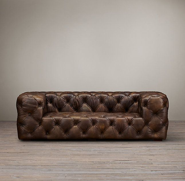 Soho Tufted Leather Sofa Tufted Leather Sofa Leather Sofa