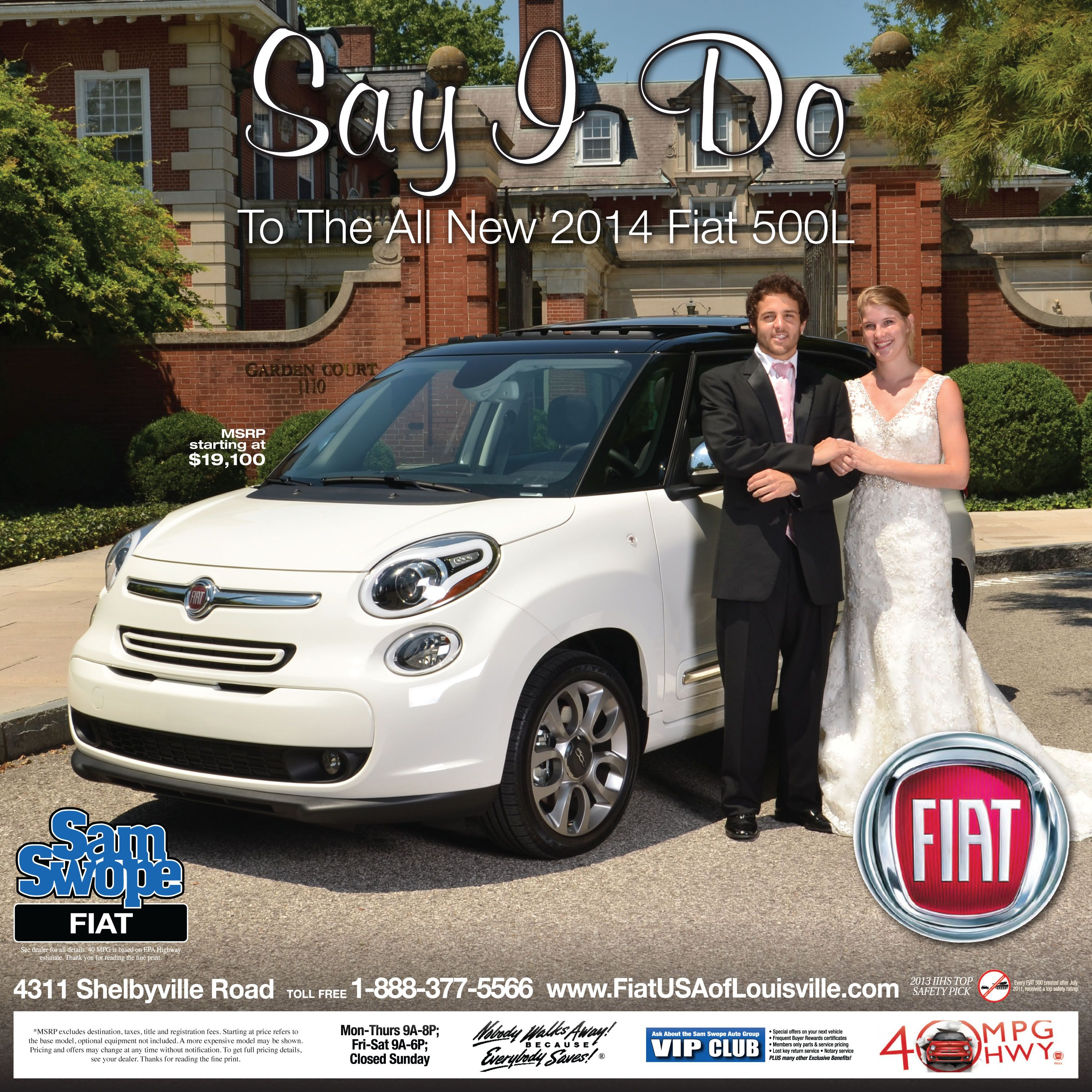 Sam Swope Auto Group >> Katie Mendenhall Usa Will You Say I Do To A Fiat 500l
