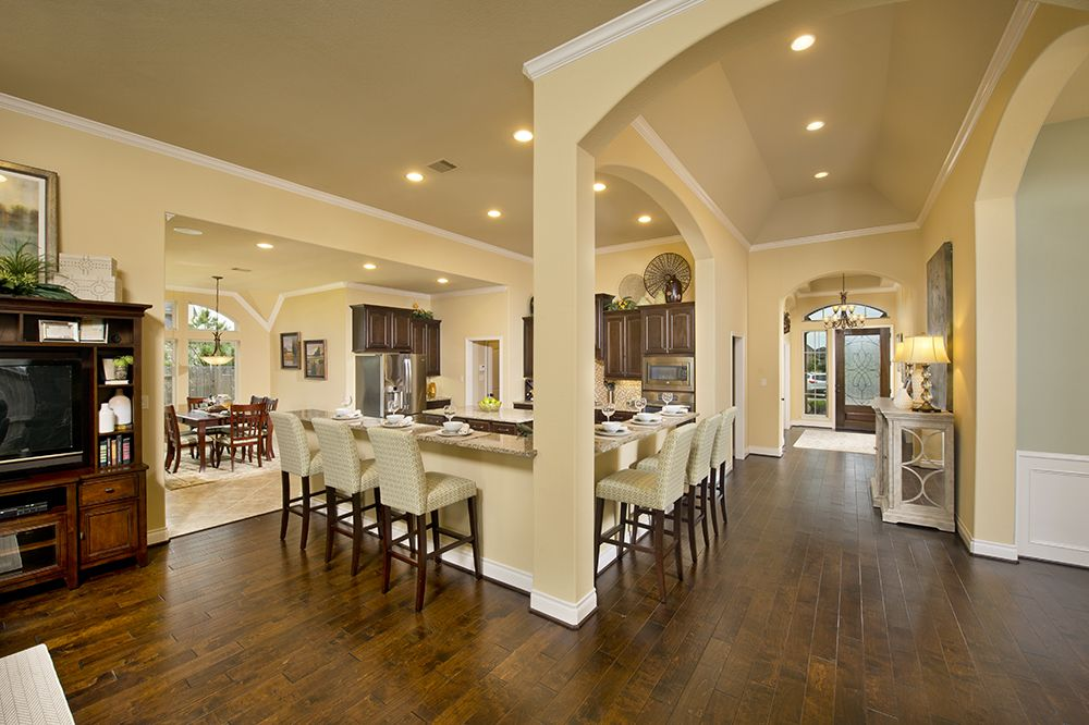Model Home Foyer Pictures : Cross creek ranch model home 3 465 sq. ft. foyer & kitchen