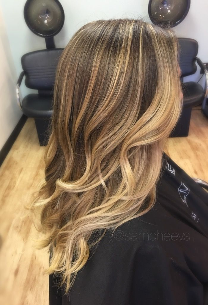 Platinum Sandy White Blonde Balayage Ombre For Brown Hair Types