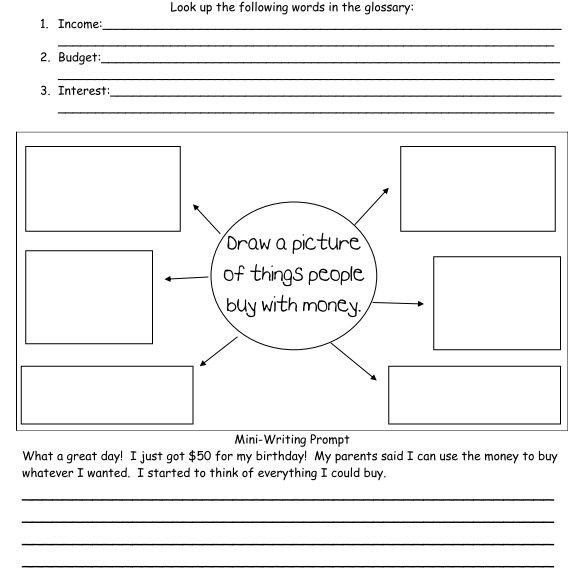 This worksheet can be an addition to a unit covering goods and – Economic Worksheets