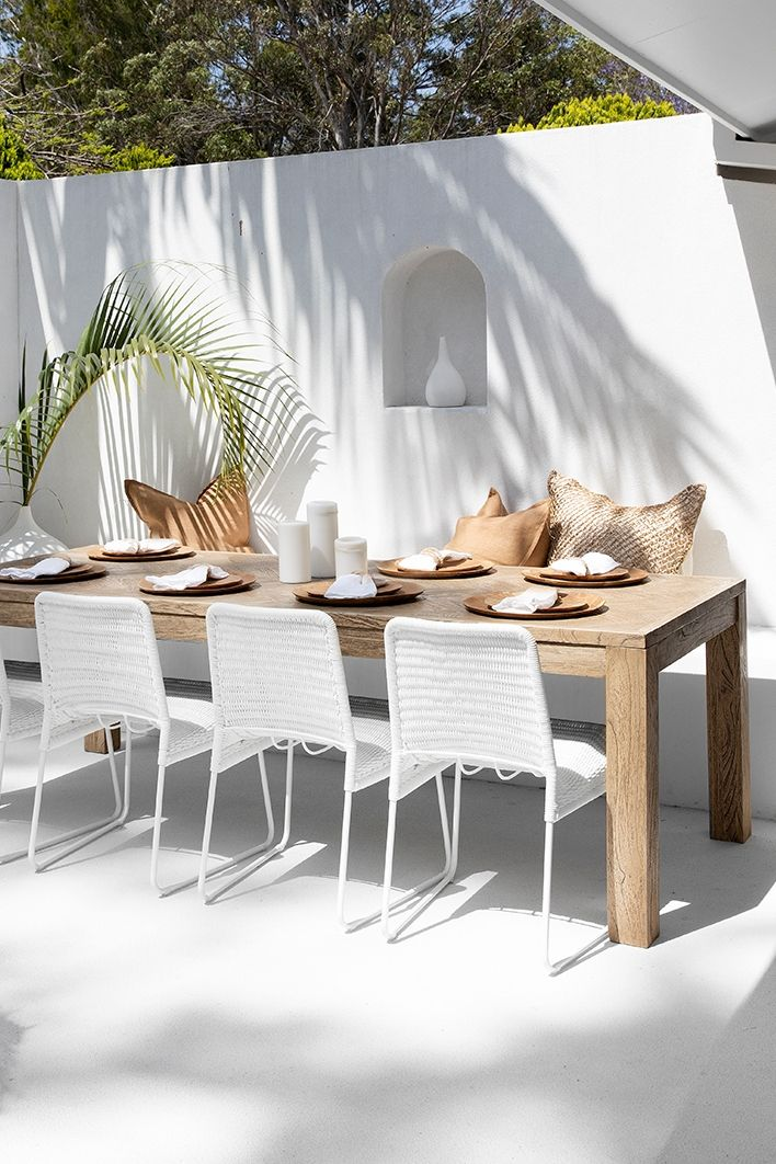 Gonubie Rope Dining Chair White In 2020 Outdoor Dining Spaces