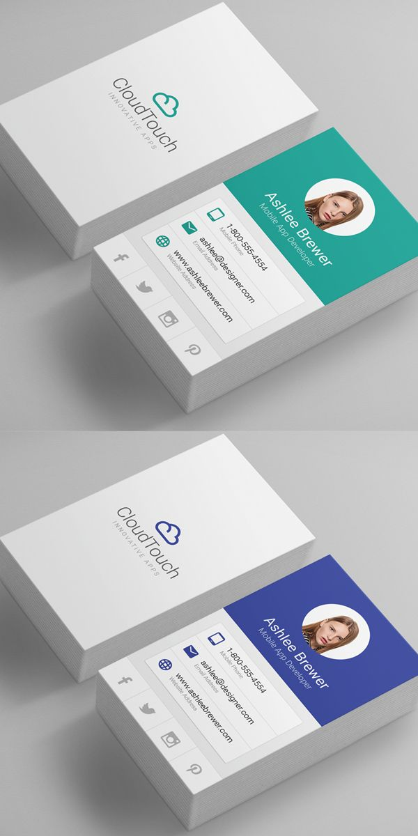 Material Design Business Cards | Business Cards Templates ...
