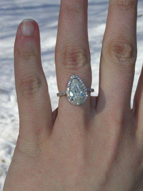 3 14 Carat Pear Shaped Diamond